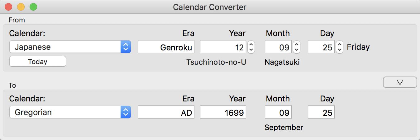 Calendar Converter Tranquillity Base